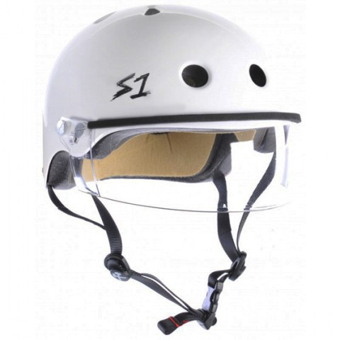 Casco con visor S-One Lifer Visor White Gloss